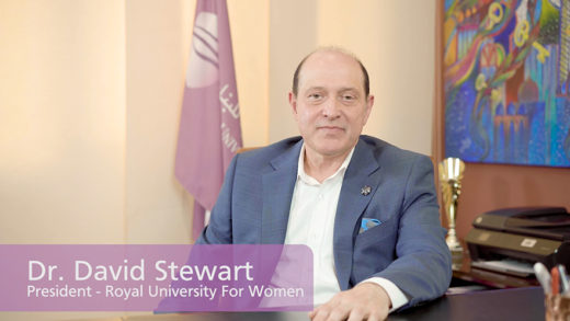 ROYAL UNIVERSITY FOR WOMEN – PRESIDENT'S WELCOME MESSAGE – 60 SECONDS